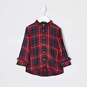 Rood geruit overhemd voor mini girls