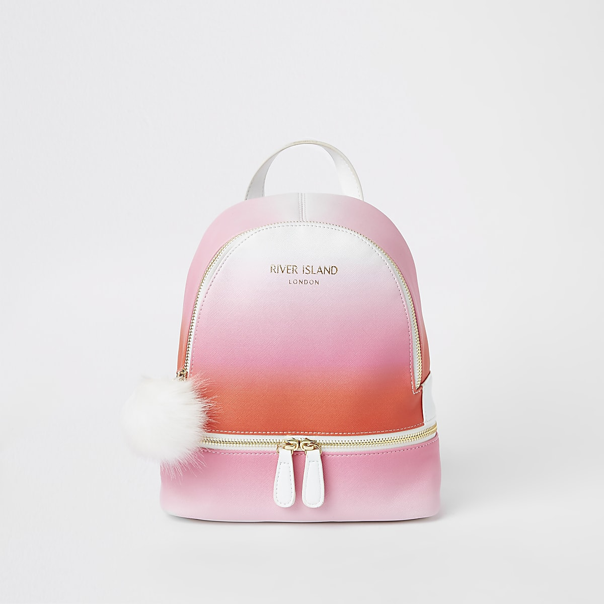 Girls neon pink ombre backpack