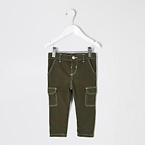 Mini girls khaki Amelie skinny utility jeans