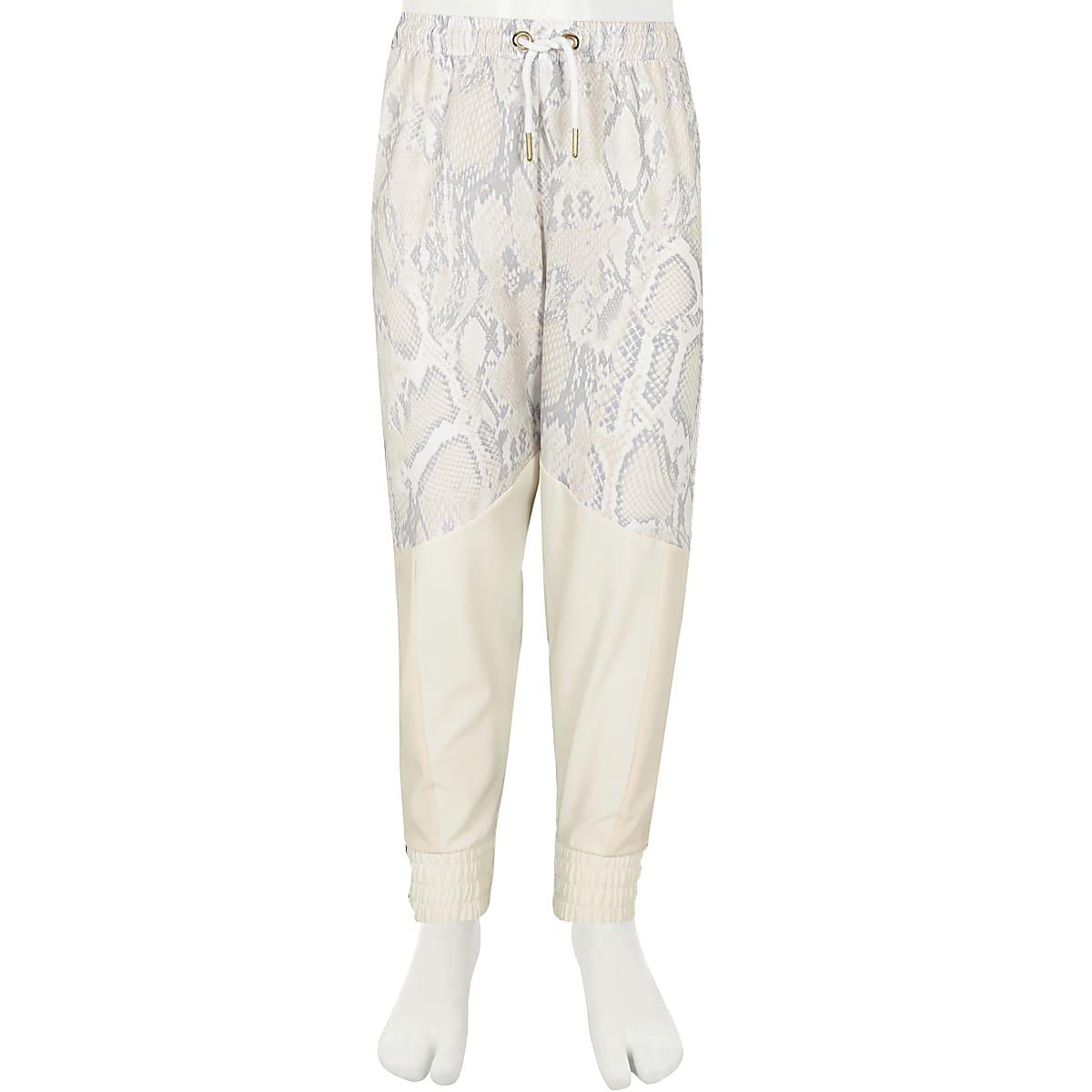 Witte Joggingbroek Heren.Ri Active Witte Joggingbroek Met Slangenprint Voor Meisjes