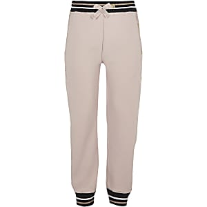 Girls RI Active pink popper joggers