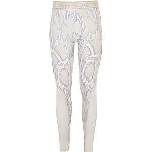 RI Active – Legging motif serpent blanc pour fille