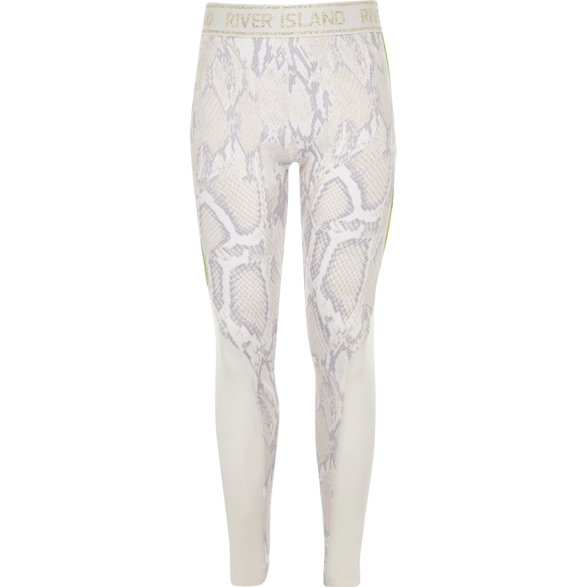 Girls RI Active white snake print leggings