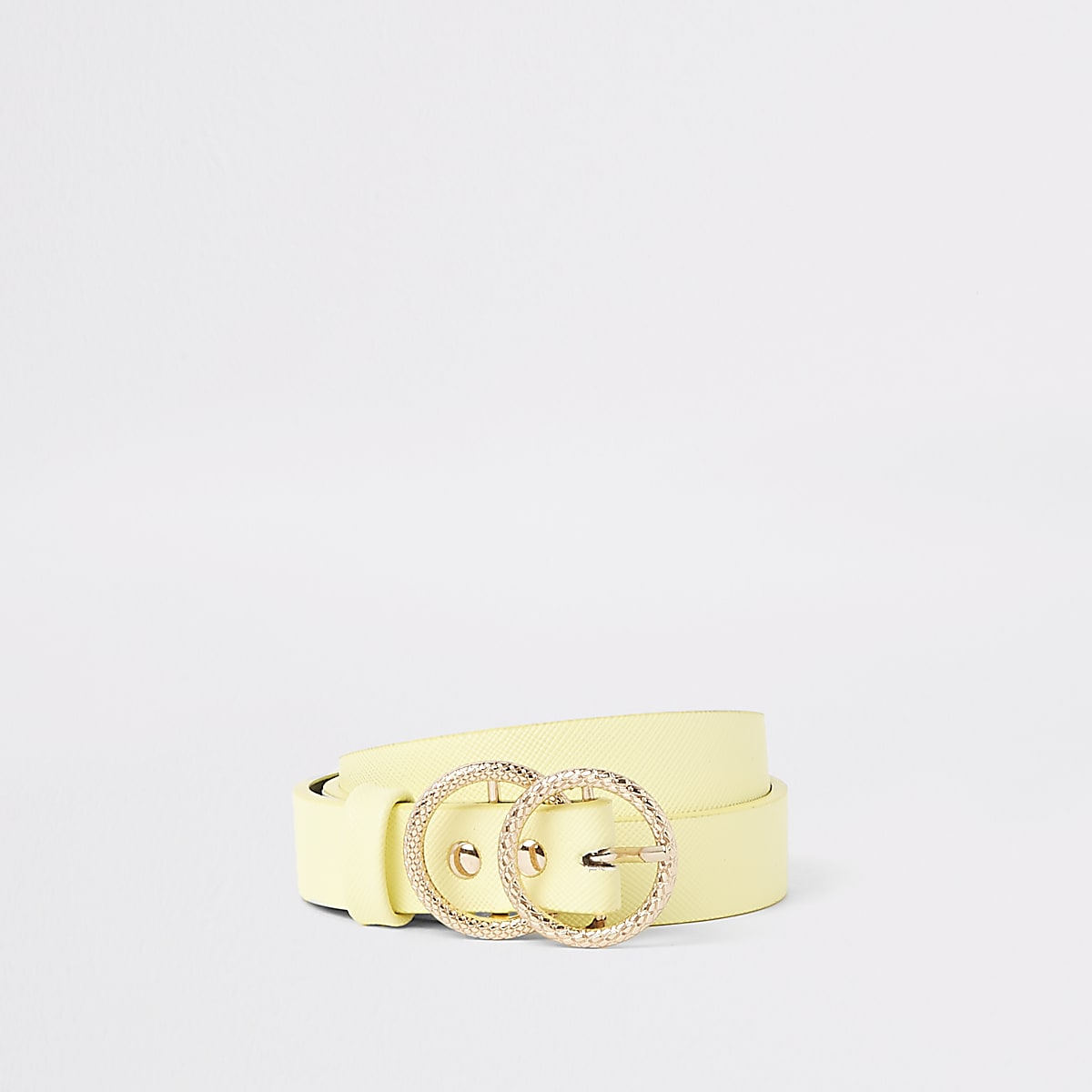 Girls yellow double ring jeans belt
