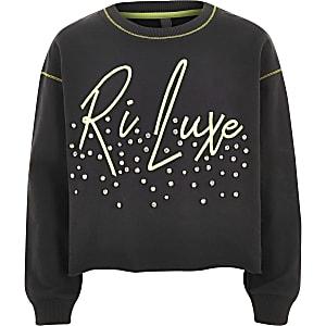RI Active - Sweatshirt met 'Luxe'-print voor meisjes