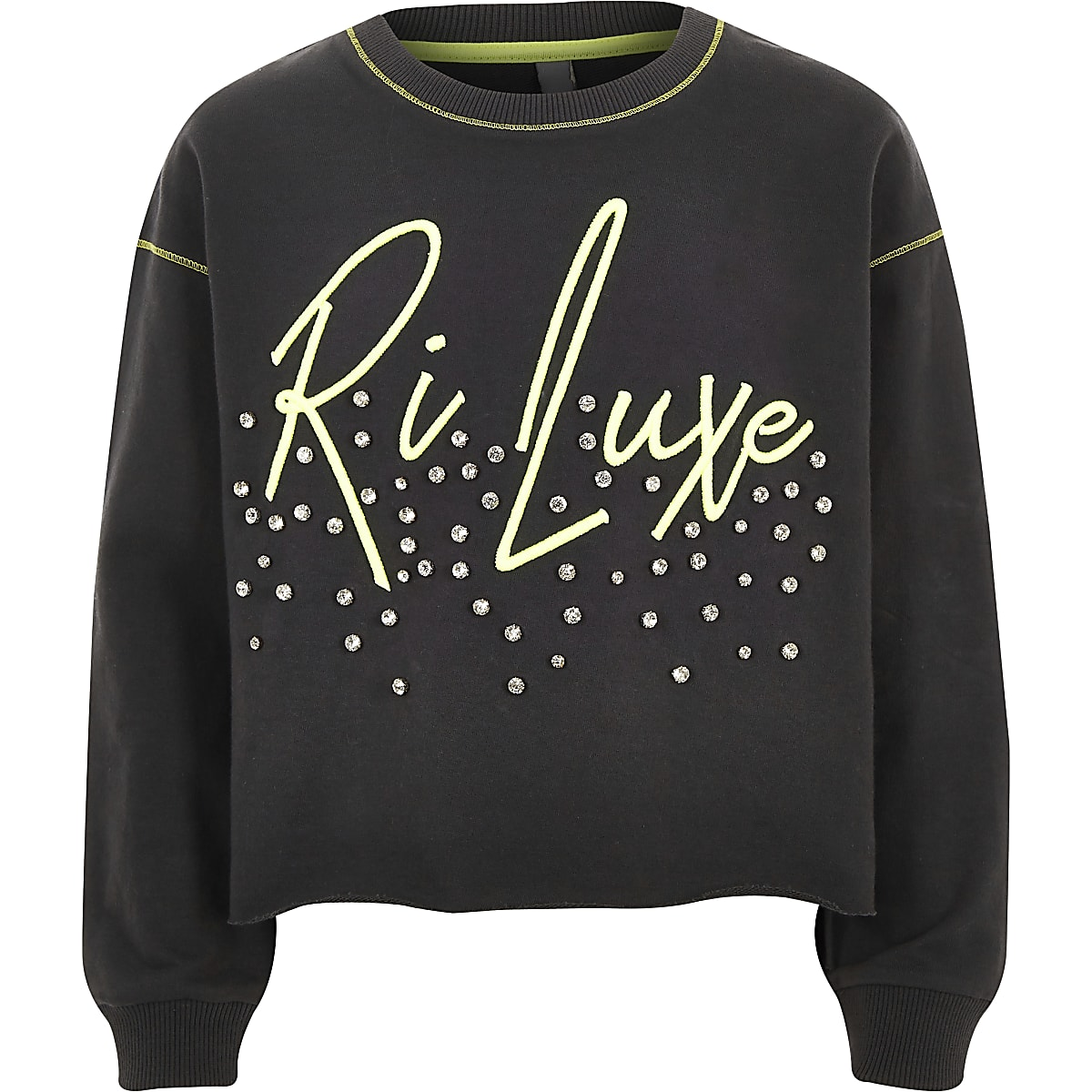 Girls RI Active 'Luxe' embellished sweatshirt