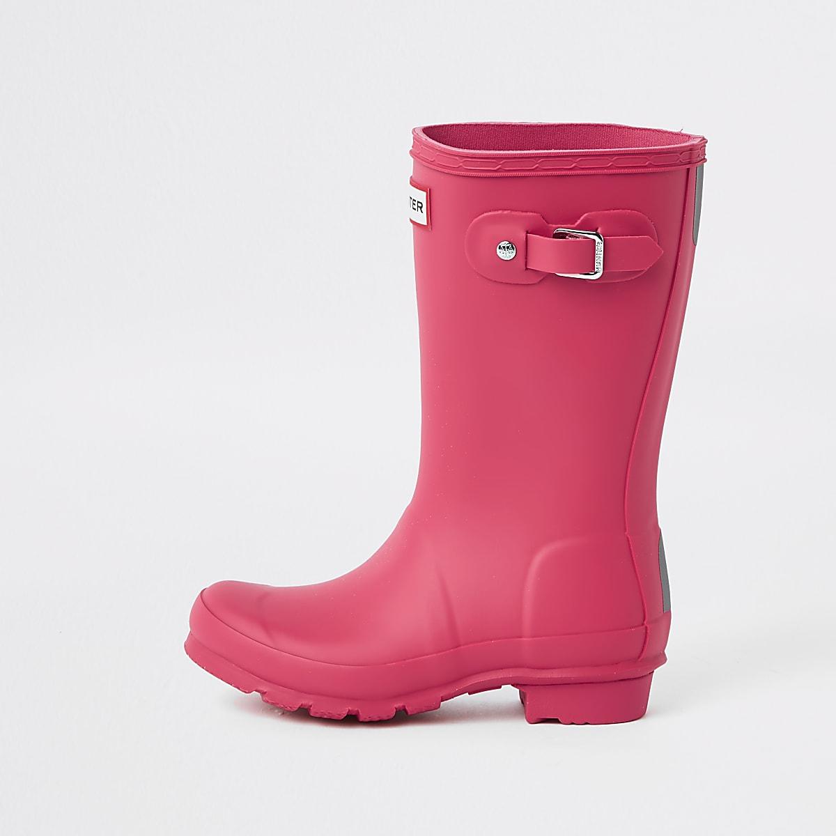 Kids Hunter Original pink wellington boots