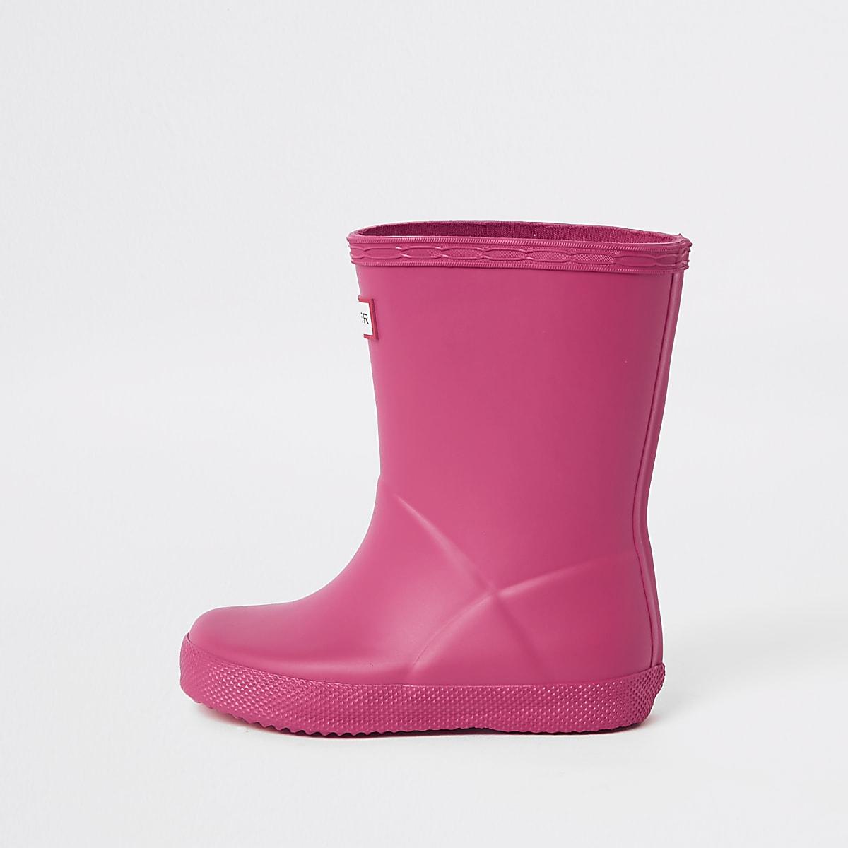 Mini - Hunter Original First - Roze regenlaarzen voor kinderen