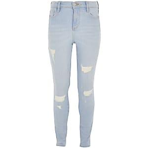 Amelie - Lichtblauwe wash jeans voor meisjes