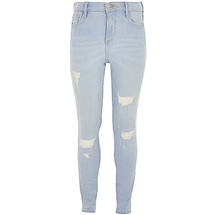 Girls light blue wash Amelie jeans