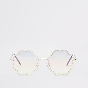 Blumen-Sonnenbrille mit Farbverlauf