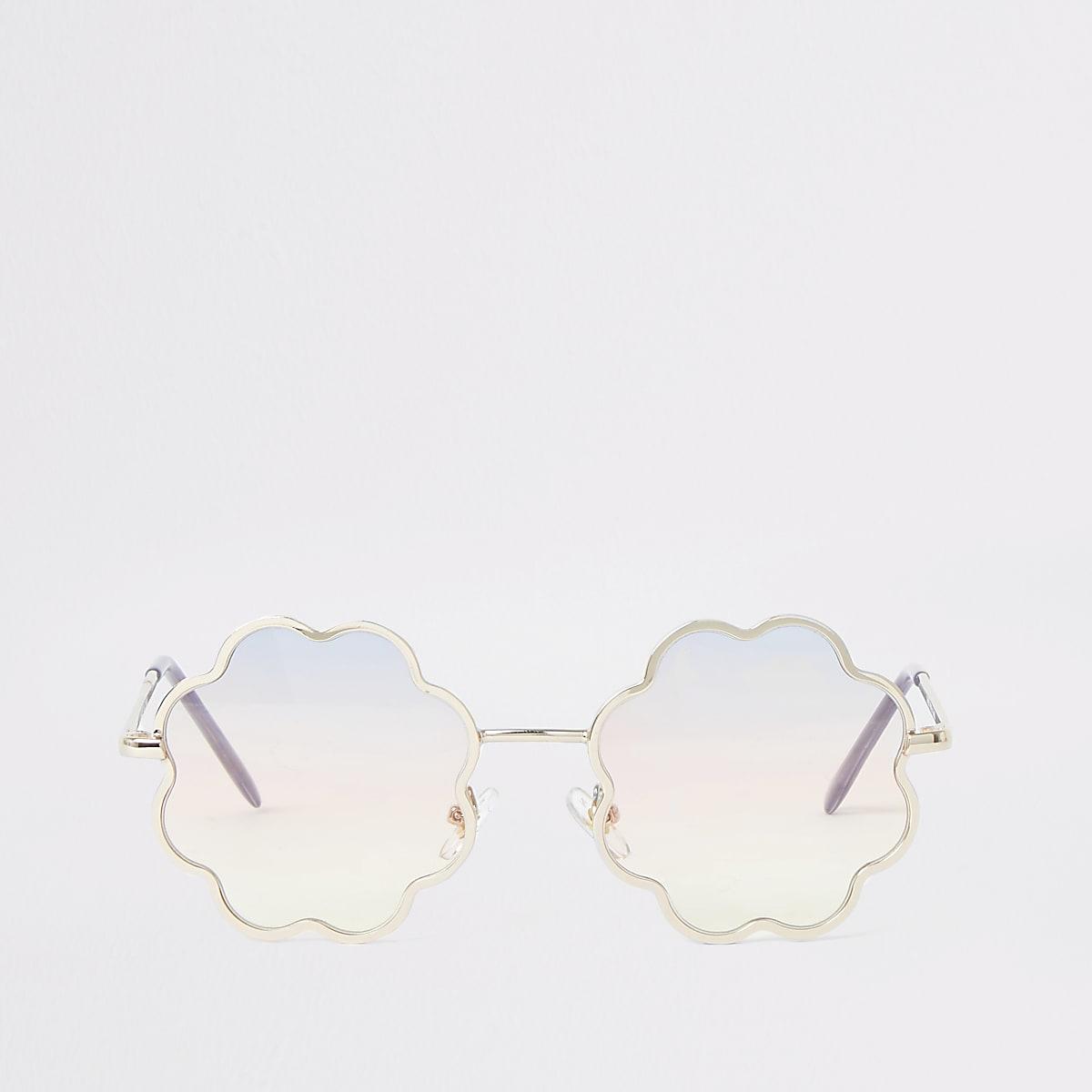 Girls ombre lens flower sunglasses