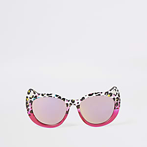 Mini girls pink ombre cat eye sunglasses