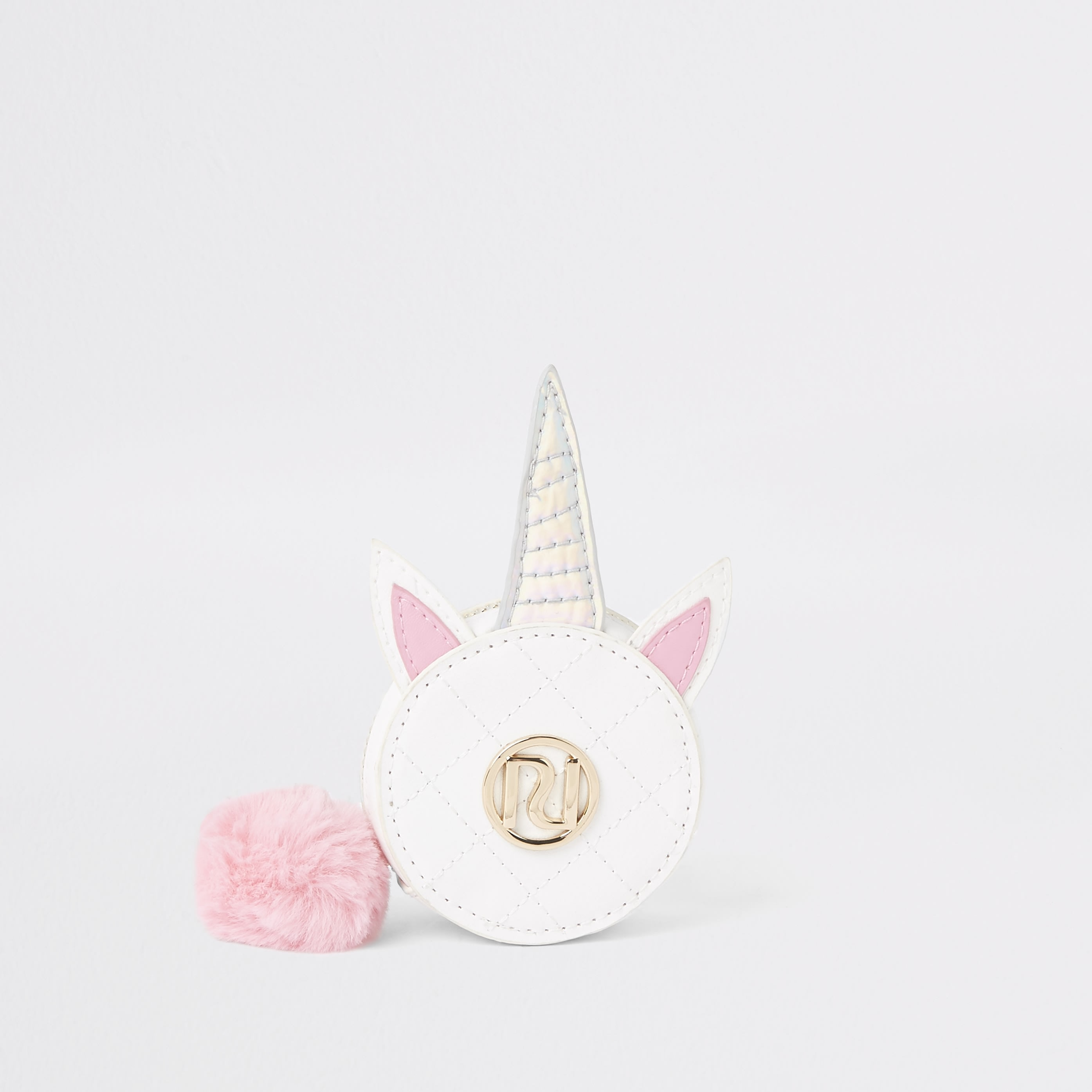 RIVER ISLAND | Girls White Unicorn Circle Purse | Goxip