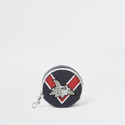 Girls navy chevron coin pouch purse