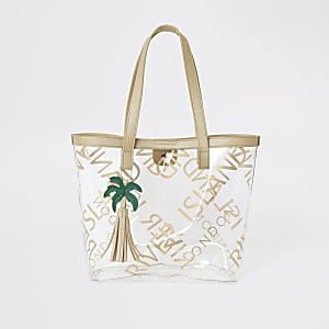 Girls gold perspex RI shopper