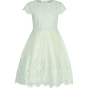 Girls Chi Chi London green Viviana dress