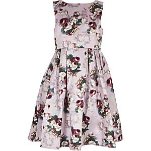 Chi Chi London - Ariyah - Roze jurken met bloemen voor meisjes