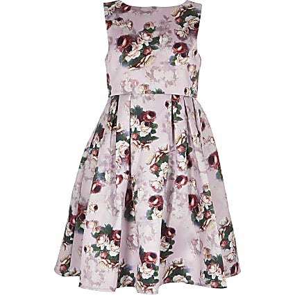 Girls Chi Chi London pink floral Ariyah dress