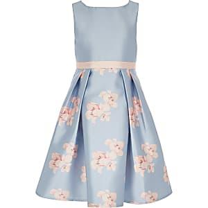 Chi Chi London – Orelia – Robe à fleurs bleue pour fille