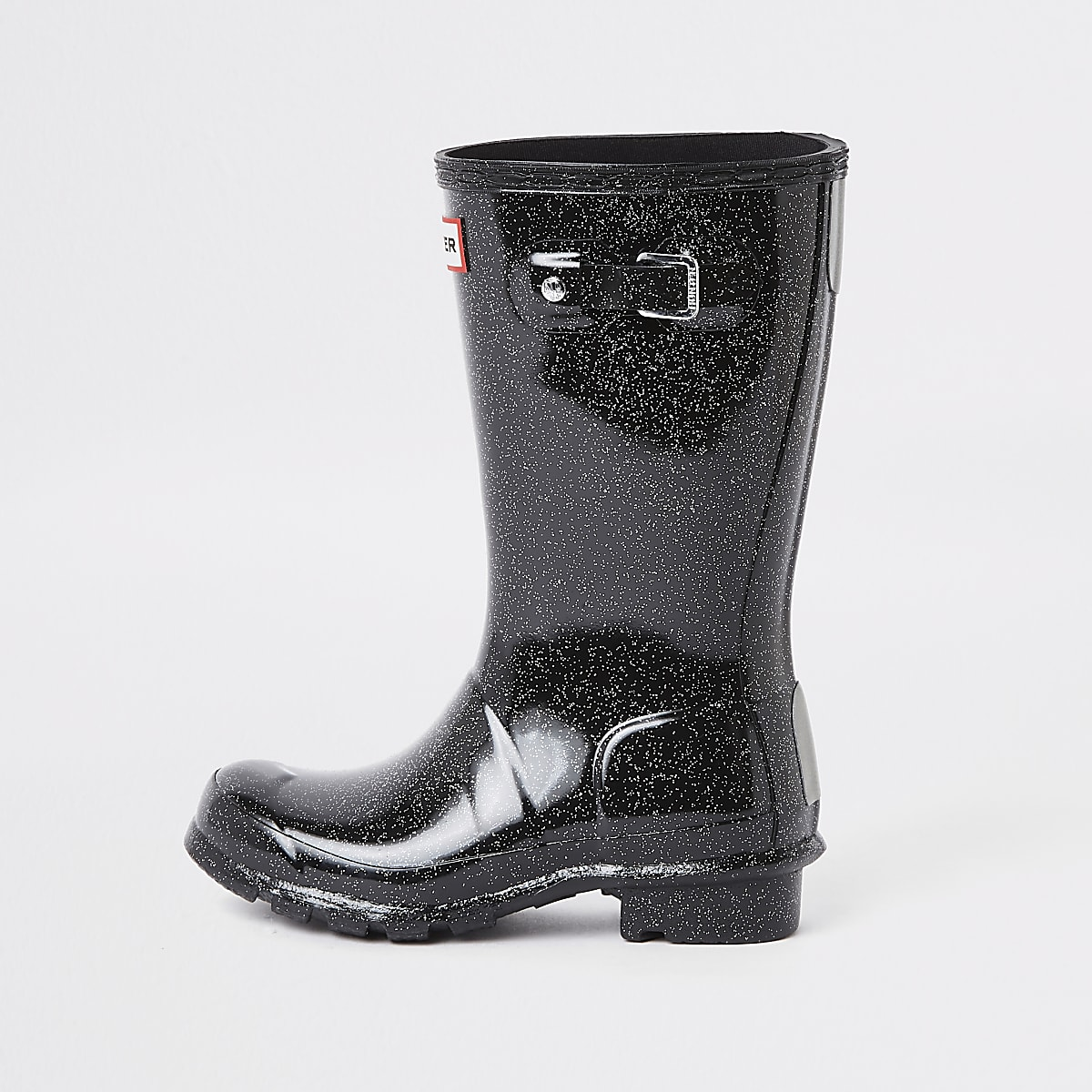 sports shoes c642a e146f Kids Hunter Original black glitter wellies