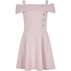Pinkes Bardot-Kleid