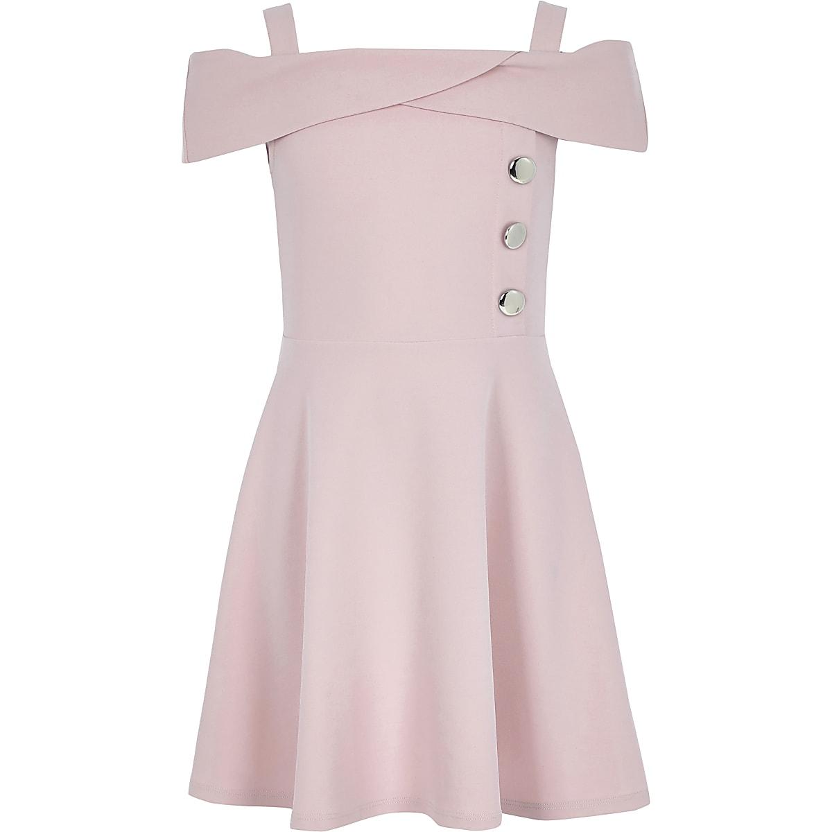 Roze scuba bardotjurk voor meisjes
