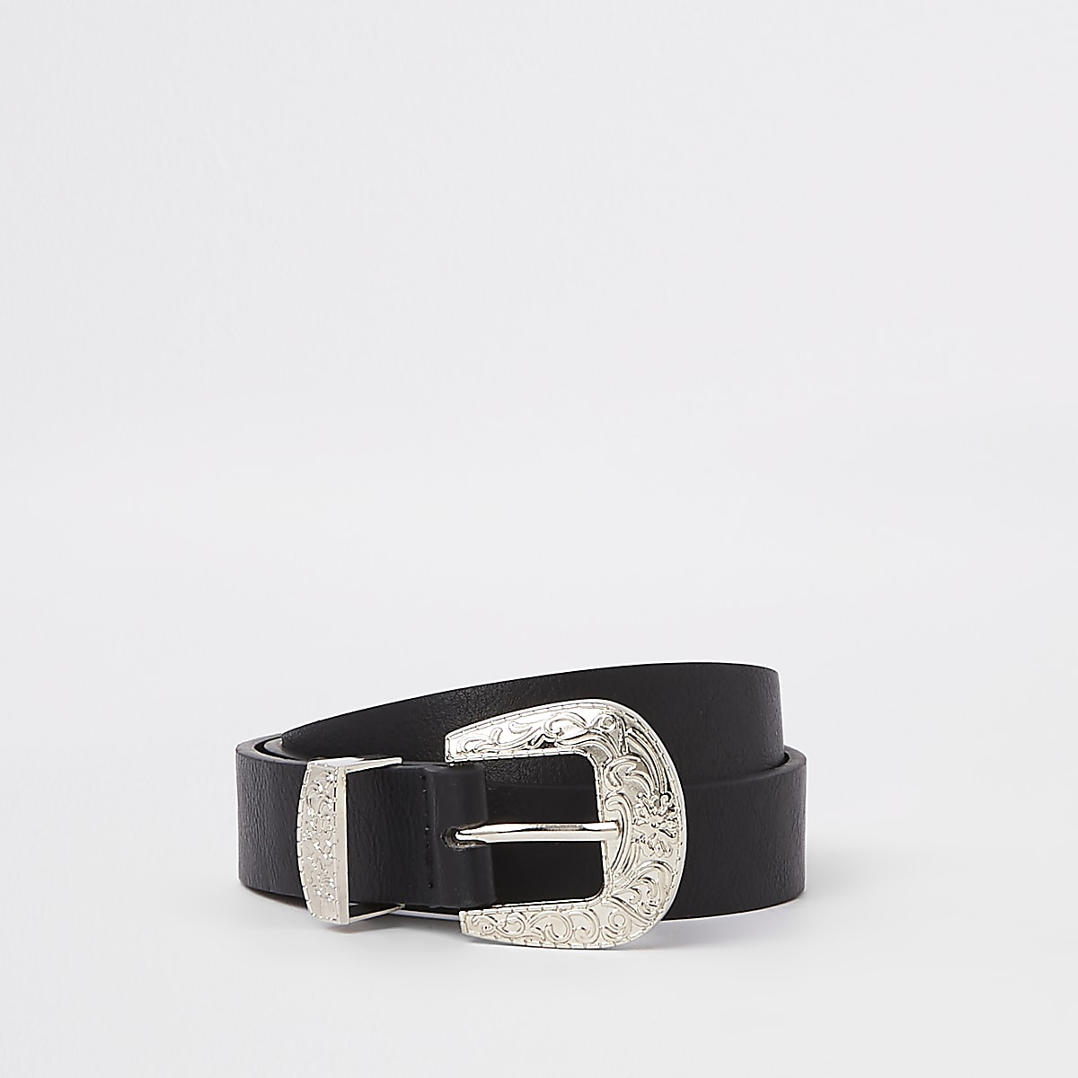 Girls black western belt
