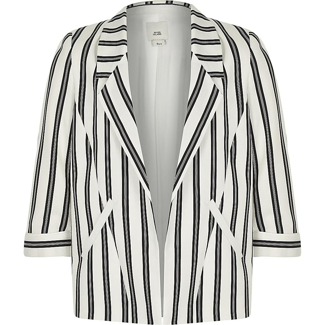 Girls black stripe blazer