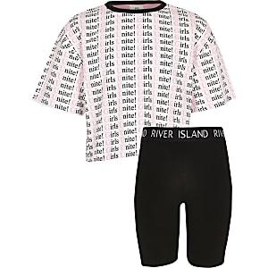 Ensemble avec t-shirt imprimé Unite pour fille