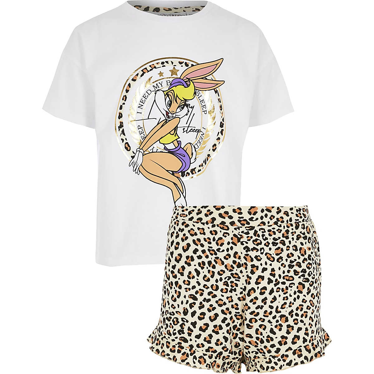 Girls white Disney Lola Bunny pyjama set