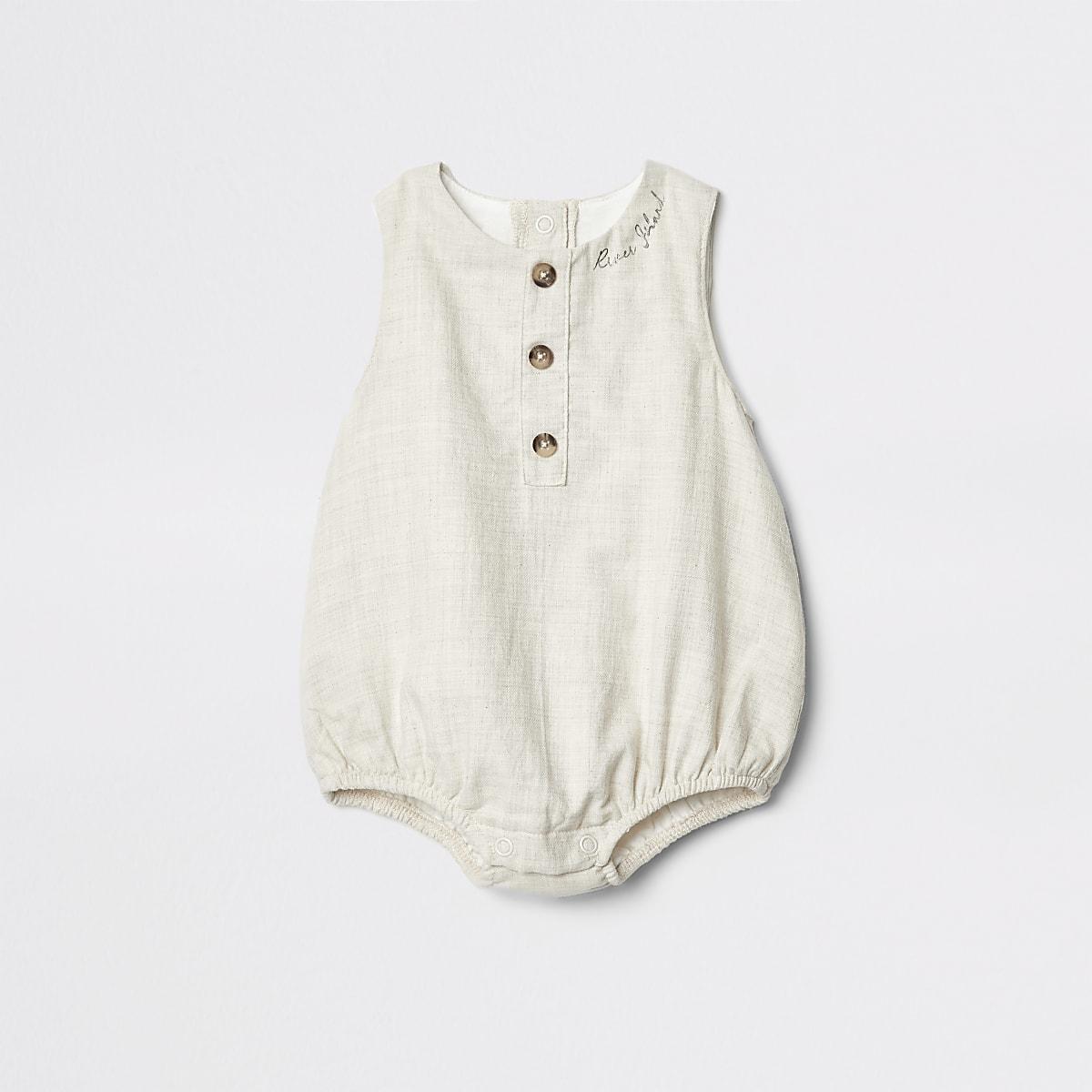 Baby cream romper