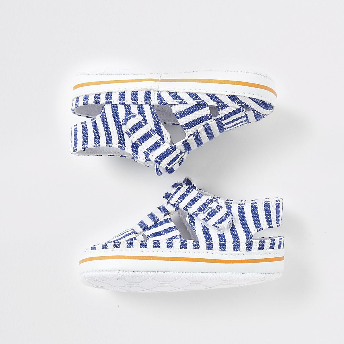 Baby blue stripe sandals