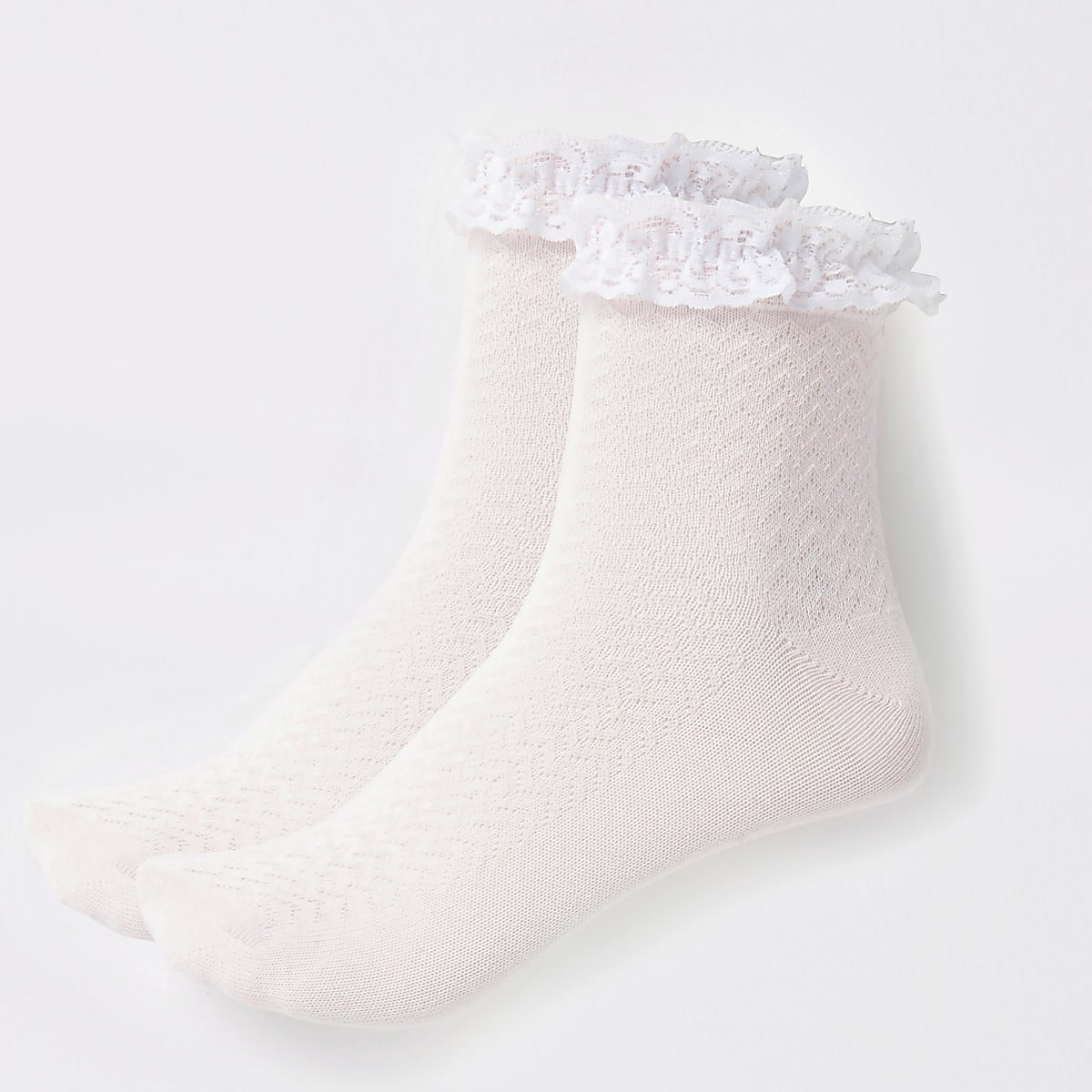 Girls pink lace socks multipack