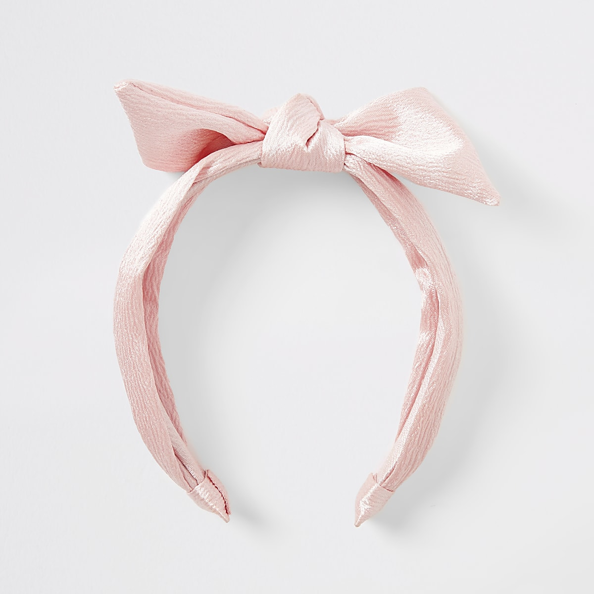 Girls pink bow headband