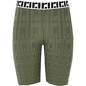 Girls khaki RI cycle shorts
