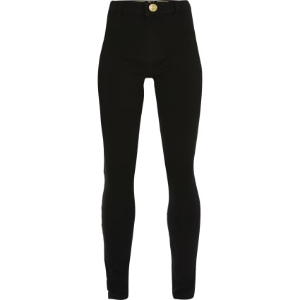 Girls black Molly mid rise jeggings