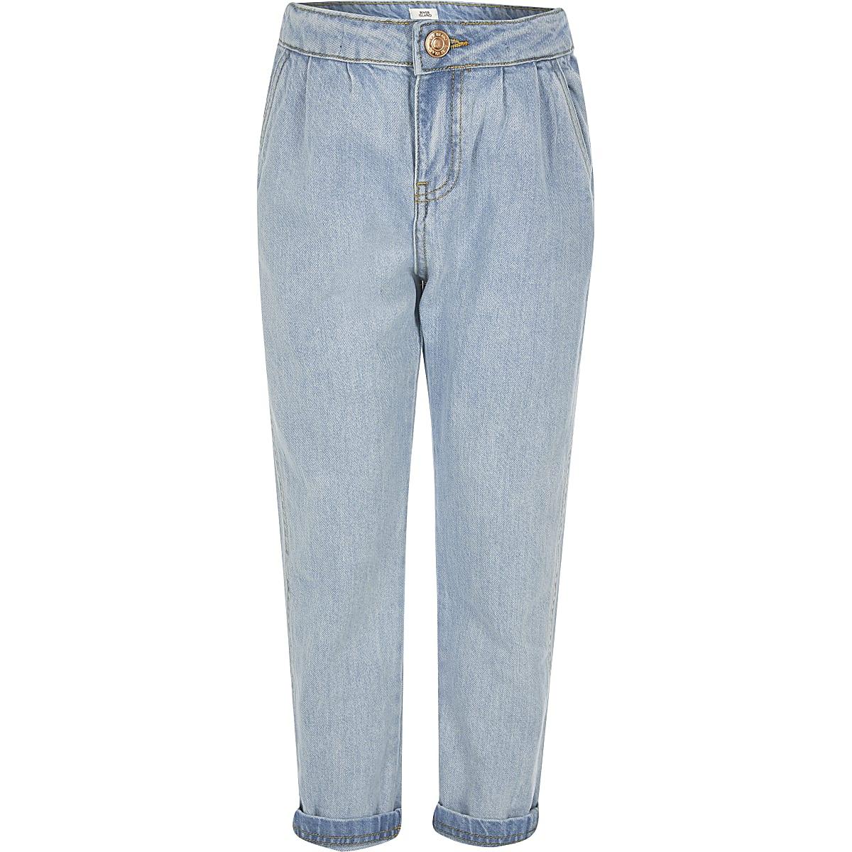 Girls blue mom jeans