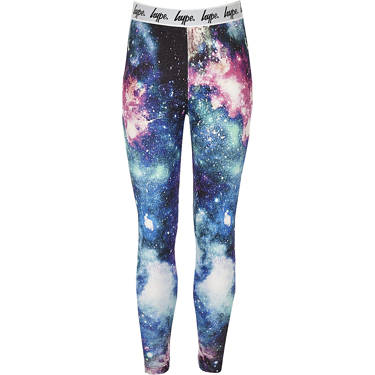 Girls black Hype space leggings