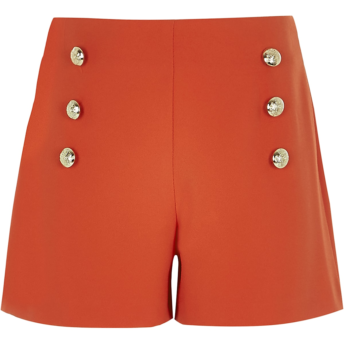 Rode short in legerlook voor meisjes