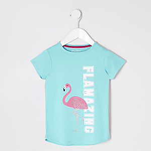 Mini girls flamingo night dress