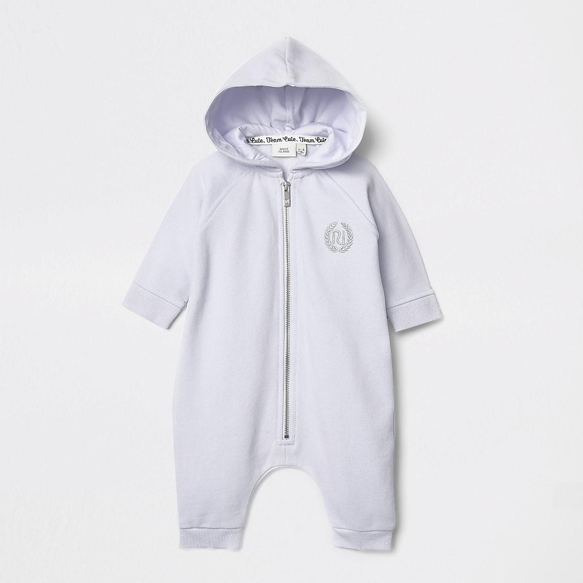 Baby blue angel wings hooded baby grow