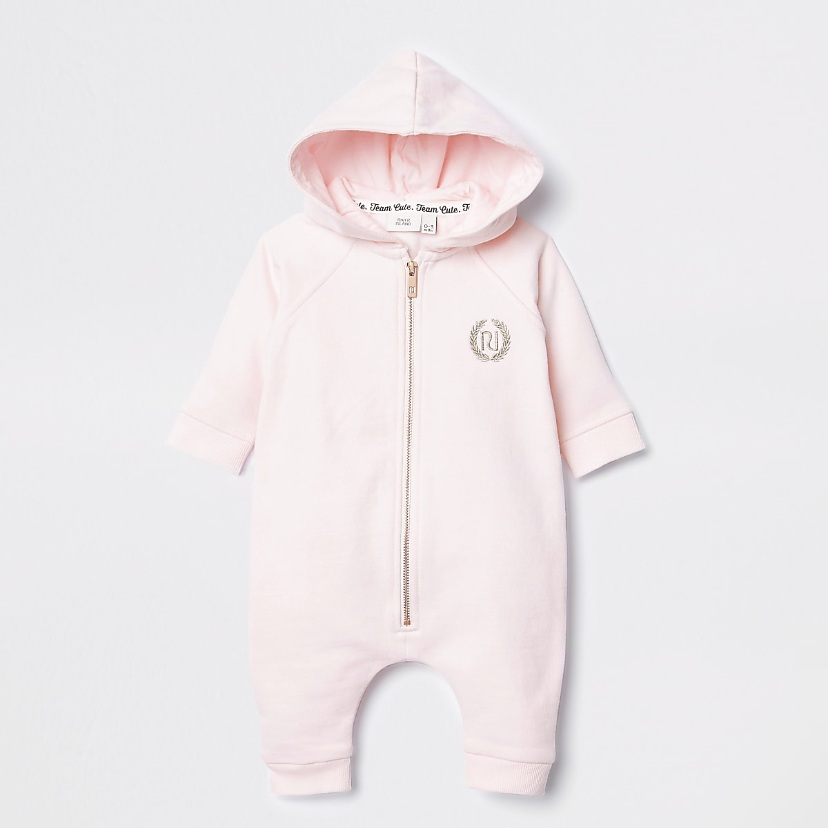 Roze babygrowmet capuchon en engelvleugeltjes