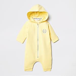 Grenouillère jaune ailes d'abeilles pour bébé