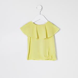 T-shirt jaune fluo mini fille