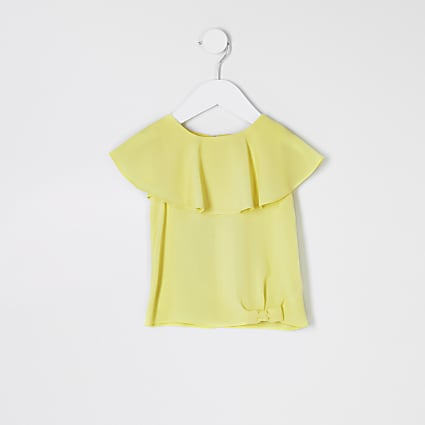 Mini girls neon yellow T-shirt