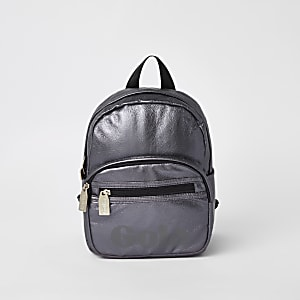 Kids metallic purple Gola backpack