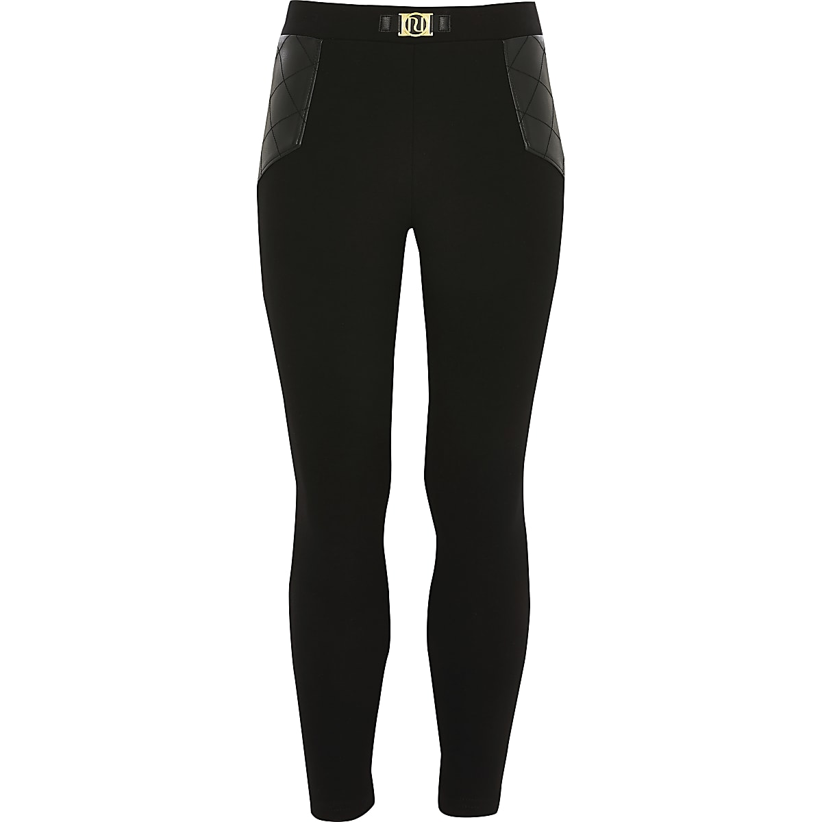 Girls black RI ponte leggings