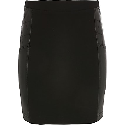 Girls black ponte skirt