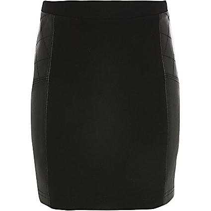 Girls black ponte skirt